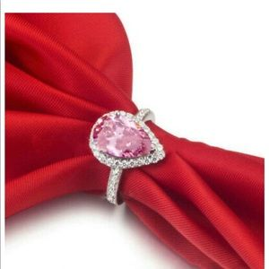Jewelry - PINK topaz pear shape engagement ring